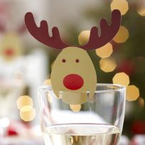 Rocking Rudolf Place Cards For Glasses (10)